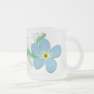 Caneca De Café Vidro Jateado Decoração da flor