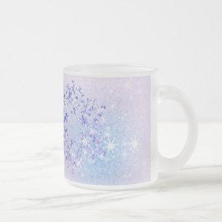 Caneca De Café Vidro Jateado Deixais lhe para nevar