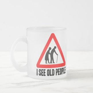 Caneca De Café Vidro Jateado Eu ver pessoas adultas
