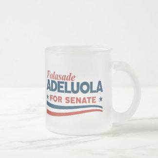 Caneca De Café Vidro Jateado Folasade Adeluola para o Senado