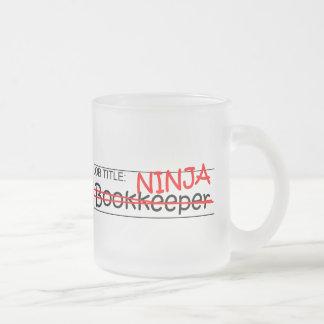 Caneca De Café Vidro Jateado Guarda-livros de Ninja da posição