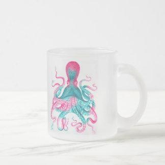 Caneca De Café Vidro Jateado Ilustração do polvo - vintage - kraken