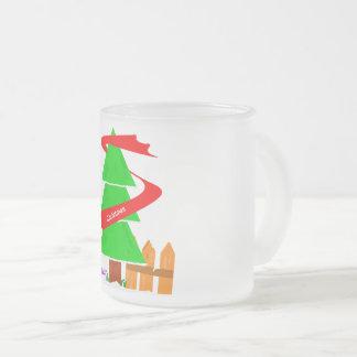 Caneca De Café Vidro Jateado Mag 2017 da árvore de Natal