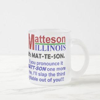Caneca De Café Vidro Jateado Matteson, Illinois