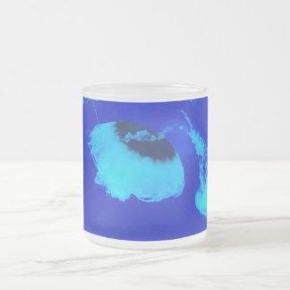 Caneca De Café Vidro Jateado Medusa em México (azul)