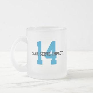 Caneca De Café Vidro Jateado MGL Cuppa - objetivo #14: Vida abaixo da água