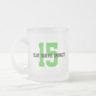 Caneca De Café Vidro Jateado MGL Cuppa - objetivo #15: Vida na terra