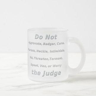 Caneca De Café Vidro Jateado Não irk o juiz