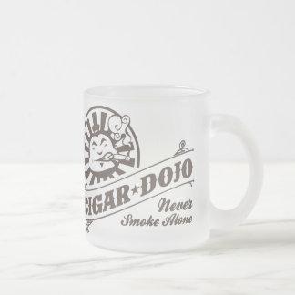 Caneca De Café Vidro Jateado Nunca fume apenas
