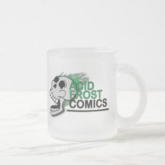 Caneca De Café Vidro Jateado O crânio ácido da história em quadrinhos de Frost