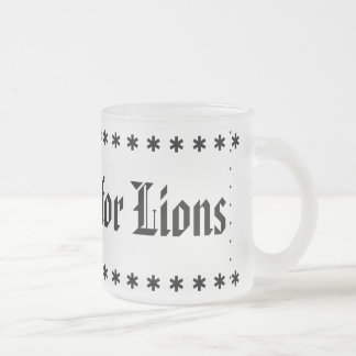 Caneca De Café Vidro Jateado O futebol é para leões
