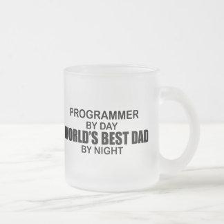 Caneca De Café Vidro Jateado O melhor pai do mundo - programador