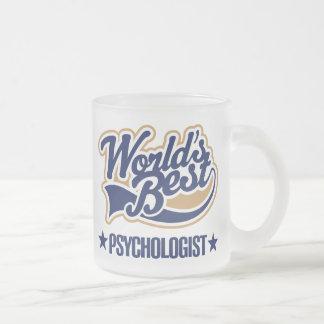 Caneca De Café Vidro Jateado O melhor psicólogo dos mundos