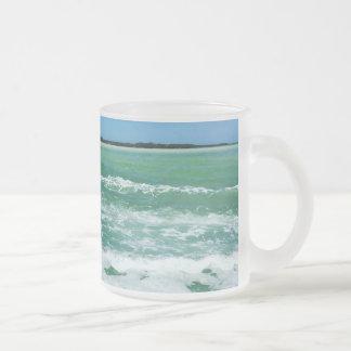 Caneca De Café Vidro Jateado Ondas no Golfo do México