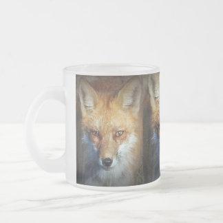 Caneca De Café Vidro Jateado Os presentes & cumprimentos do Fox vermelho