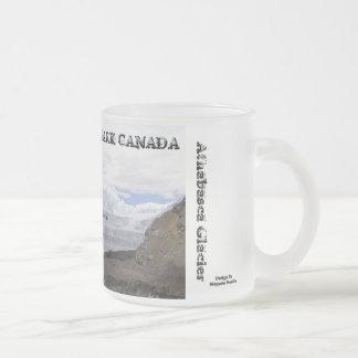 Caneca De Café Vidro Jateado Parque nacional de jaspe - geleira de Athabasca