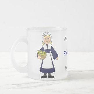 Caneca De Café Vidro Jateado Personalize-me -- Peregrino da acção de graças