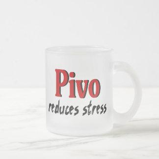Caneca De Café Vidro Jateado Pivo reduz o esforço