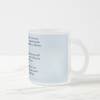 Caneca De Café Vidro Jateado Poesia em um copo