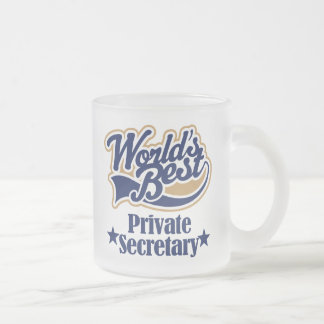 Caneca De Café Vidro Jateado Presente do secretário privado para (mundos