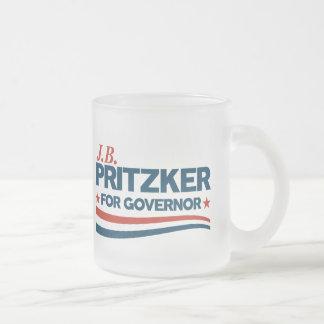 Caneca De Café Vidro Jateado PRITZKER - JB Pritzker para o governador