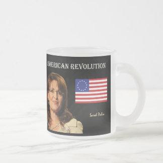 Caneca De Café Vidro Jateado Revolução Americana