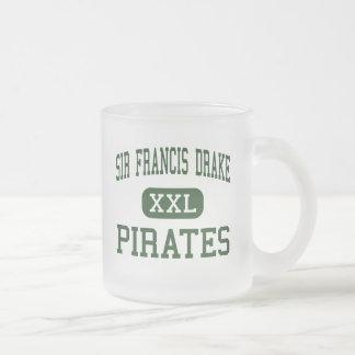 Caneca De Café Vidro Jateado Senhor Francis Drake - piratas - alto - San