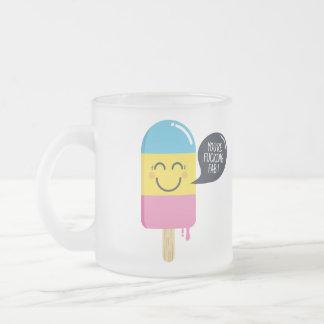 Caneca De Café Vidro Jateado Sorriso bonito do sorvete - você é bolha