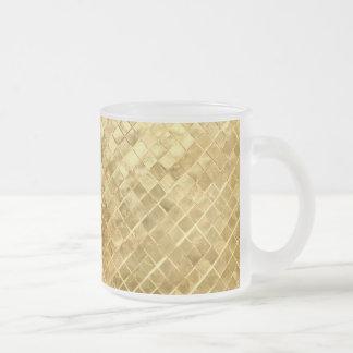 Caneca De Café Vidro Jateado Tabuleiro de damas do ouro de Falln