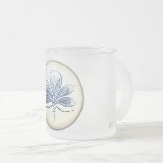 Caneca De Café Vidro Jateado taça de floral de desenho de fino