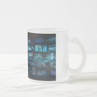 Caneca De Café Vidro Jateado Tecnologia da informação ou ELE Infotech como uma