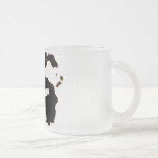 Caneca De Café Vidro Jateado Teste de Rorschach de um cartão da mancha da tinta