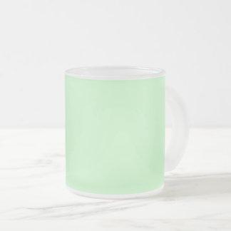 Caneca De Café Vidro Jateado Verde da hortelã da luz da cor da Web do código do