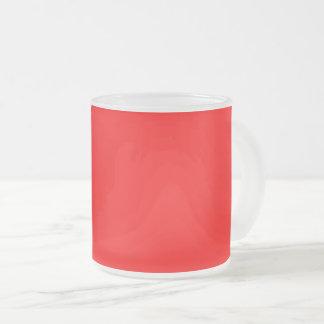 Caneca De Café Vidro Jateado Vermelho brilhante colorido da Web do código do