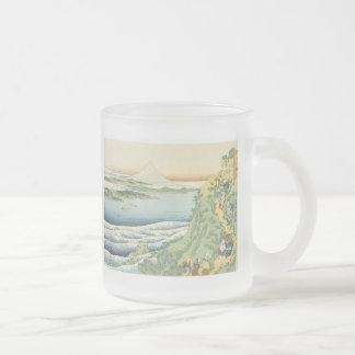 Caneca De Café Vidro Jateado Viajantes que escalam uma montanha, Hokusai,