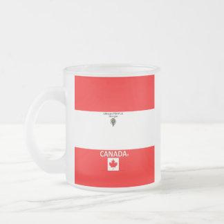 Caneca De Café Vidro Jateado Vidro de fosco de Canadá