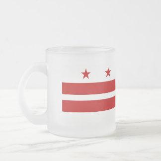 Caneca De Café Vidro Jateado Washington, bandeira da C.C.