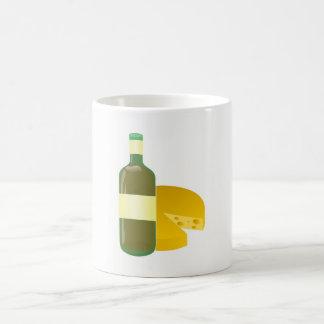 Caneca De Café Vinho e queijo