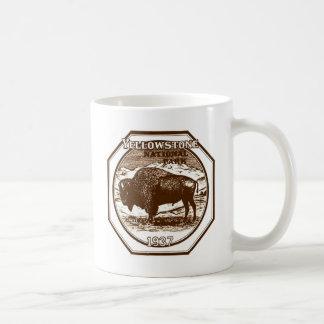 Caneca De Café Vintage 1937 do parque nacional de Yellowstone