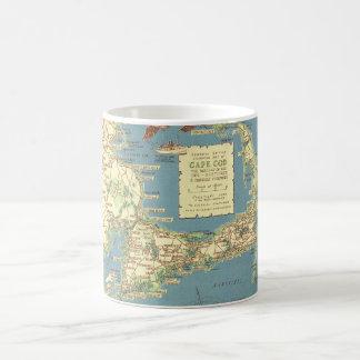 Caneca De Café Vintage Cape Cod Mapa (1940)