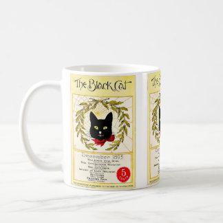 Caneca De Café Vintage gato preto compartimento dezembro de 1895