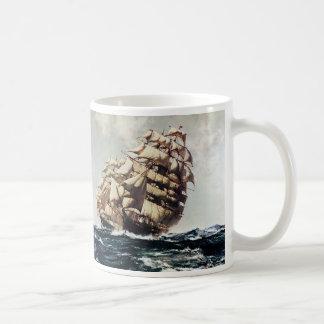 Caneca De Café Vintage Transporation, navios de tosquiadeira em
