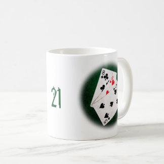 Caneca De Café Vinte-e-um 21 pontos - oito, oito, cinco