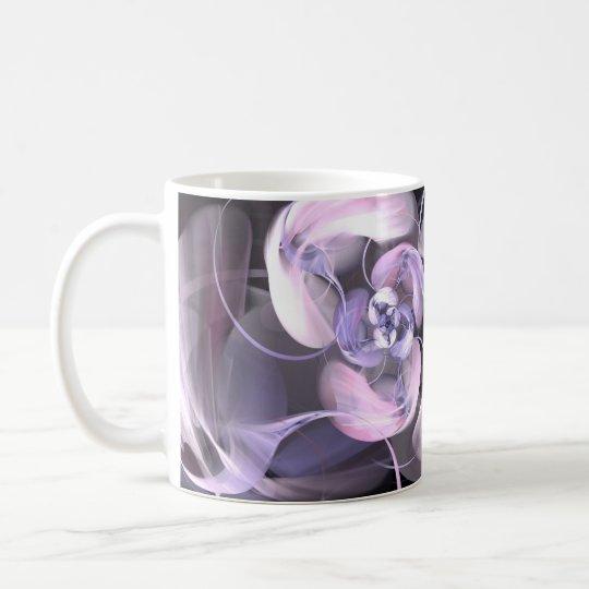 Caneca De Café Violet Fractal Flower