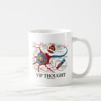Caneca De Café VIP pensado (humor do neurônio/sinapse)
