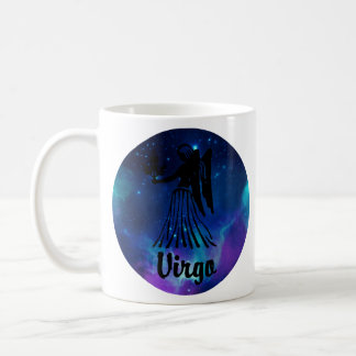 Caneca De Café Virgo no fundo do espaço