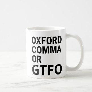 Caneca De Café Vírgula de Oxford ou GTFO