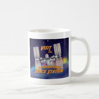 Caneca De Café Visite a estação espacial internacional