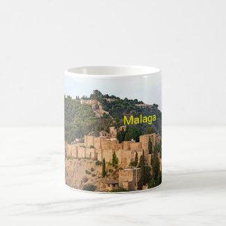 Caneca De Café Vista da fortaleza de Alcazaba em Malaga