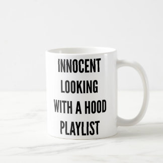 Caneca De Café Vista inocente com uma boa lista de canções